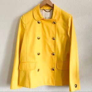 J. Crew yellow peacoat - never worn!